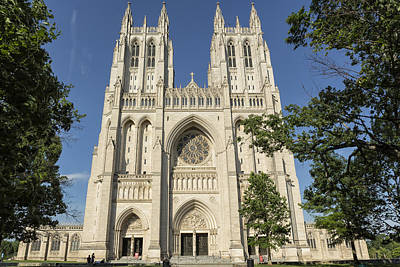 Photograph - Washington National Cathedral Front Exterior by Belinda Greb