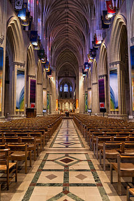 Photograph - Washington National Cathedral Interior by Belinda Greb