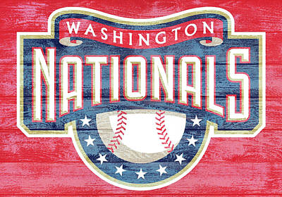 Washington Dc Mixed Media - Washington Nationals Barn Door by Dan Sproul