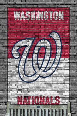 Washington Nationals Brick Wall Art Print