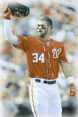 Photograph - Washington Nationals Bryce Harper 2 by Joe Hamilton