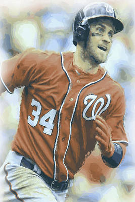 Bryce Harper Photograph - Washington Nationals Bryce Harper 3 by Joe Hamilton