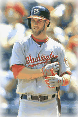 Photograph - Washington Nationals Bryce Harper by Joe Hamilton