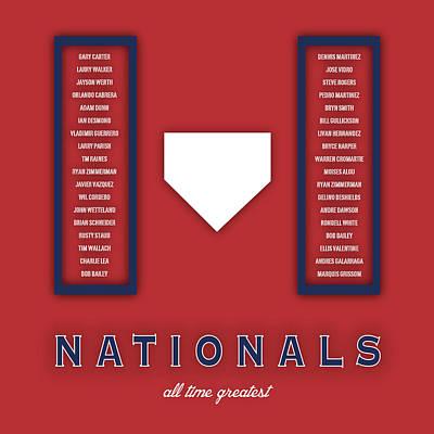 Washington D.c Digital Art - Washington Nationals Art - Mlb Baseball Wall Print by Damon Gray