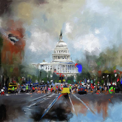Senate Painting - Washington Painting 478 I by Mawra Tahreem