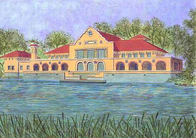 Washington Park Lakehouse Art Print by David Hinchen
