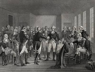 Washington Parting From His Officers At Art Print