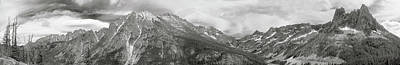 Photograph - Washington Pass Pano Bw by Peter J Sucy
