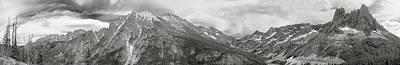 Photograph - Washington Pass Pano Bw by Peter J Sucy