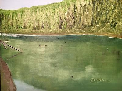 Painting - Washington Pine Lake by David Bartsch