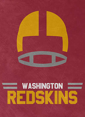 Team Mixed Media - Washington Redskins Vintage Art by Joe Hamilton