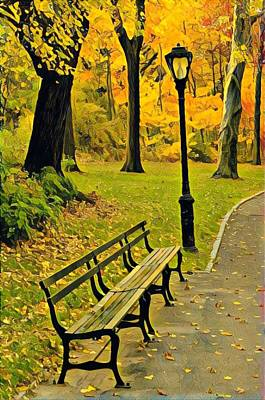 Photograph - Washington Square Bench by Cherylene Henderson