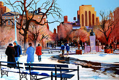 News Painting - Washington Square by John Tartaglione