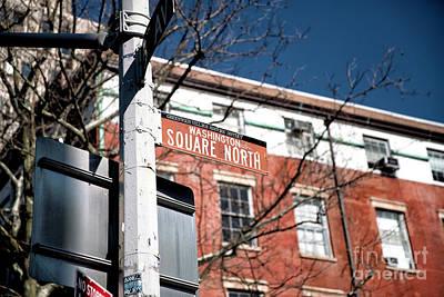 Photograph - Washington Square North by John Rizzuto