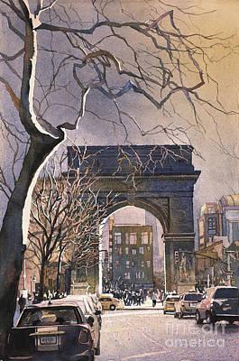 Painting - Washington Square- Nyc by Ryan Fox