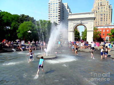 Photograph - Washington Square Park #1 by Ed Weidman