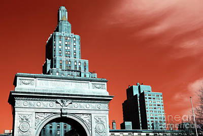 Photograph - Washington Square Pop Art by John Rizzuto
