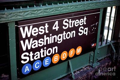 Photograph - Washington Square Station by John Rizzuto