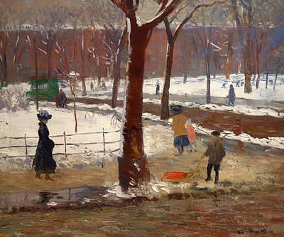Washington Square Winter Art Print