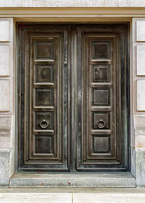 Bear Photography Rights Managed Images - Washington State Capitol Doors Royalty-Free Image by Stephen Stookey