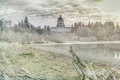 Photograph - Washington State Capitol by Jean OKeeffe Macro Abundance Art