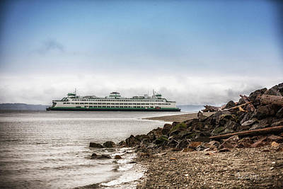 Photograph - Washington State Ferry - Edmonds by Charlie Duncan