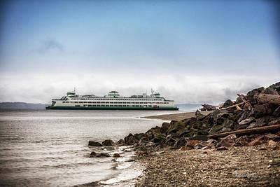 Photograph - Washington State Ferry - Edmonds by Charlie Duncan