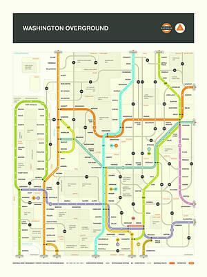 Washington State Digital Art - Washington State Map by Jazzberry Blue