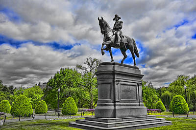 Photograph - Washington Statue Y1 by Carlos Diaz