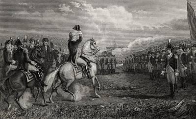Washington Taking Command Of The Army Art Print