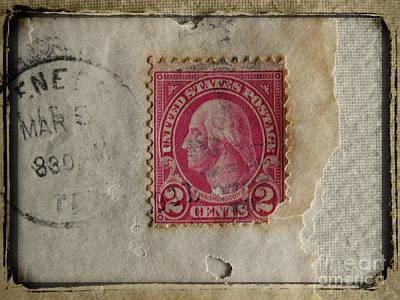 Photograph - Washington Vintage 1923 Postage Stamp by Ella Kaye Dickey
