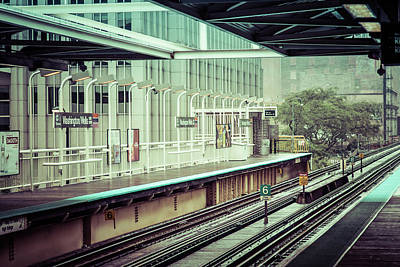 Photograph - Washington/wells Stop In The Rain by Anthony Doudt