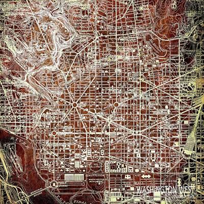 Oriole Digital Art - Washington West, Columbia,1945 by Pablo Franchi