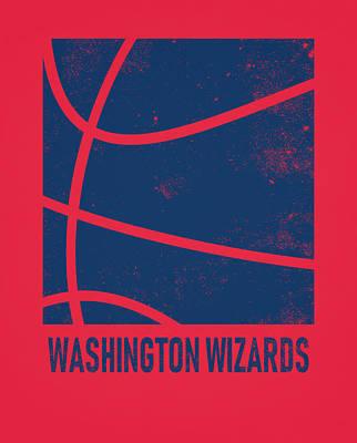 Washington Wizards Wall Art - Mixed Media - Washington Wizards City Poster Art 2 by Joe Hamilton