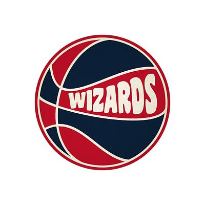 Washington Wizards Retro Shirt Art Print by Joe Hamilton