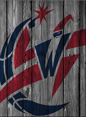 Photograph - Washington Wizards Wood Fence by Joe Hamilton