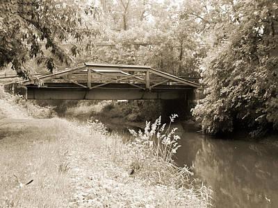 Rainy Day Photograph - Washington's Crossing Pa - Route 532 Bridge Over The Delaware Ca by Bill Cannon