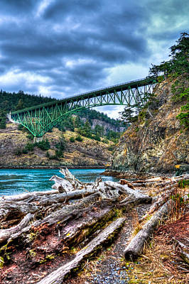 Photograph - Washington's Deception Pass Bridge by David Patterson