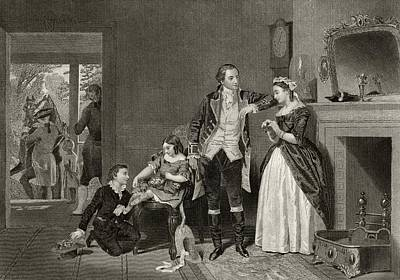 Washingtons First Interview With Mrs Art Print by Vintage Design Pics