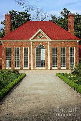 Photograph - Washington's Greenhouse At Mount Vernon by Karen Adams