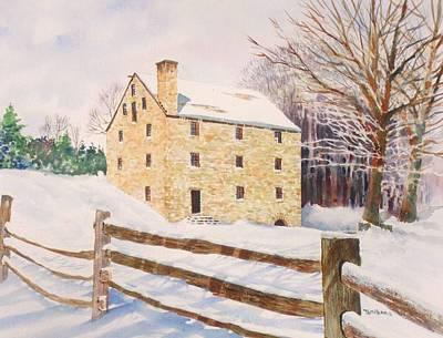 Washington's Grist Mill Original by Tom Harris