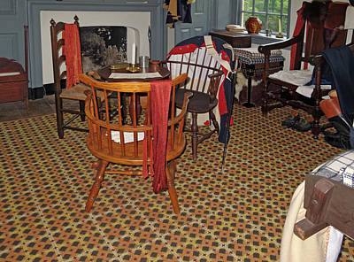 Photograph - Washington's Headquarters Room by Sally Weigand
