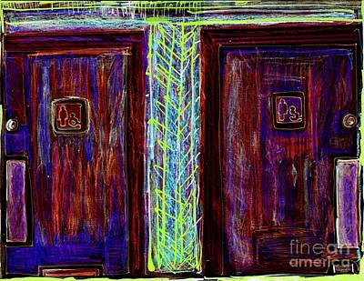 Disability Mixed Media - Washrooms Are This Way by Contemporary Luxury Fine Art