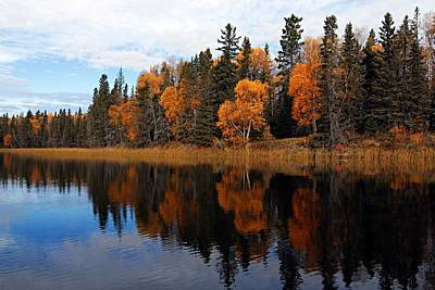Prince Albert National Park Photograph - Waskesiu Reflections by Larry Ricker