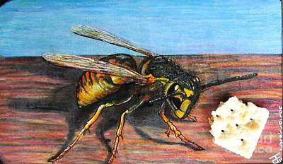 Wasps Crisps Art Print by John Foss