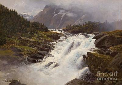 Painting - Wasser Fall Norwegischer by Reproduction