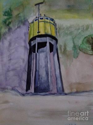 Geb Painting - Wasserturm Weihmichl by Alexander Christian Schilder