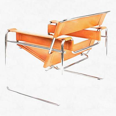 Digital Art - Wassily Chair Mid-century Modern by Edward Fielding