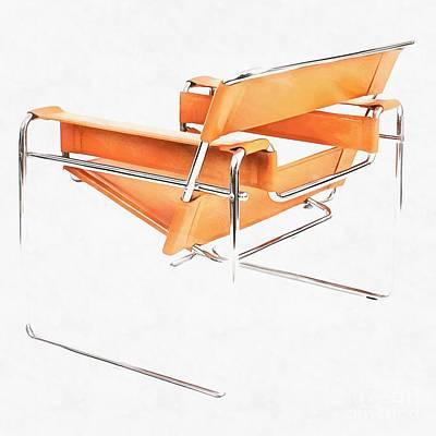 Wassily Chair Mid-century Modern Art Print