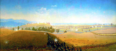 Maine Landscapes Painting - Wasted Gallantry Antietam - 7th Maine Infantry by James Hope